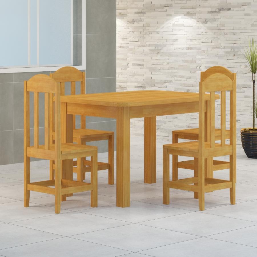 Mesa Safira 1,20 x 0,88 com 4 cadeiras Safira Cerejeira