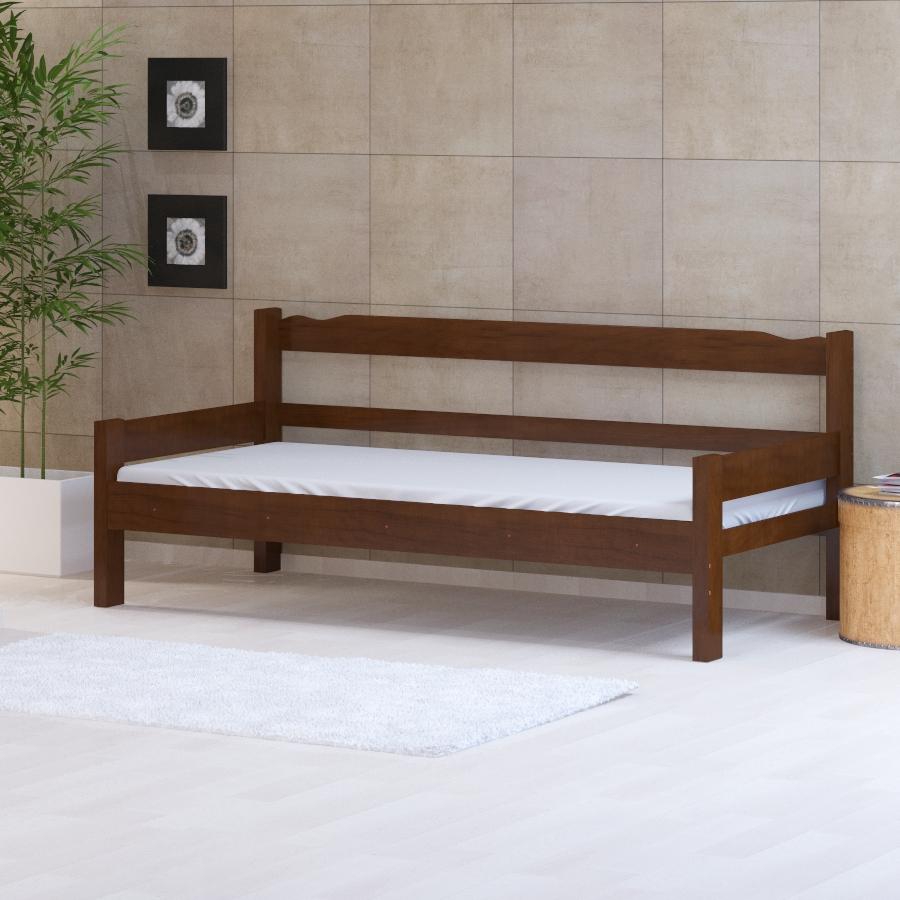 Sofá-cama Castanho